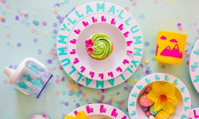 melamine kinderservies set lama