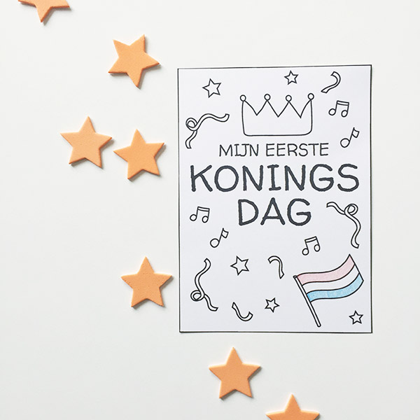 koningsdag printable gratis download milestone card