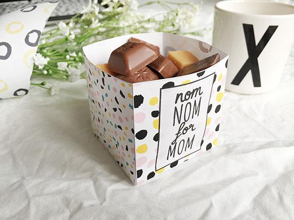 moederdag printables chocoladedoosje