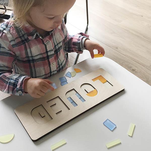 cre8 naampuzzel lentekleuren puzzel 3 jaar en ouder
