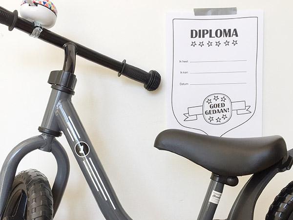 Veterstrikdiploma, fietsdiploma of grote broer/zus diploma – print deze gratis oorkonde voor je kind