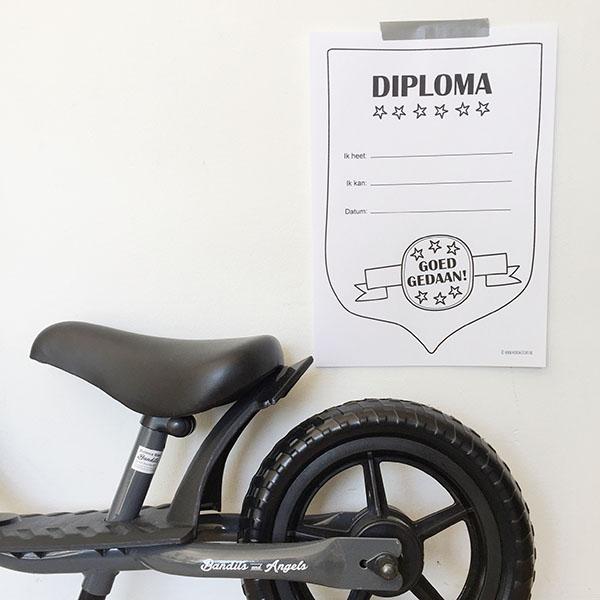 printable gratis diploma veters strikken fietsen zwemmen