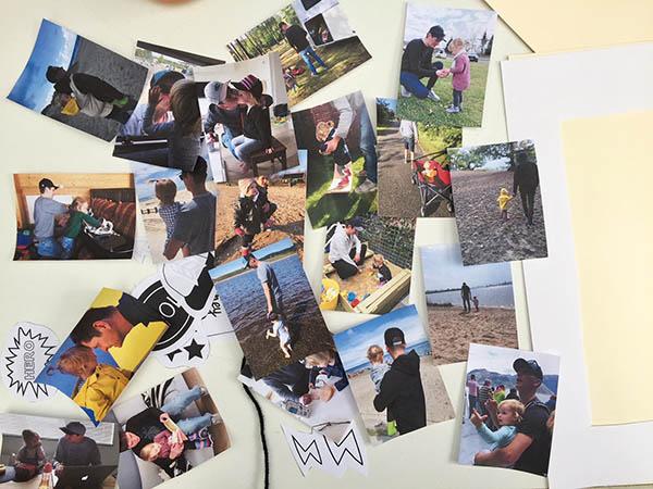 Vaderdag cadeautje printable scrapbook fotocollage