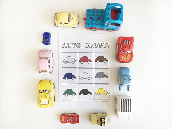 printable auto bingo spelletje voor in de auto