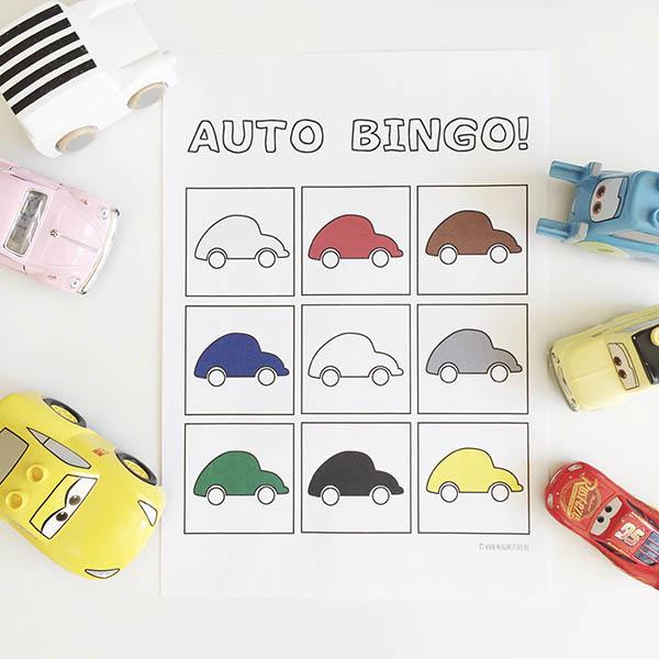 printable auto bingo spelletje voor onderweg