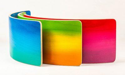 wobbelboard ombre regenboog