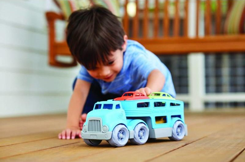 speelgoed van gerecycled plastic