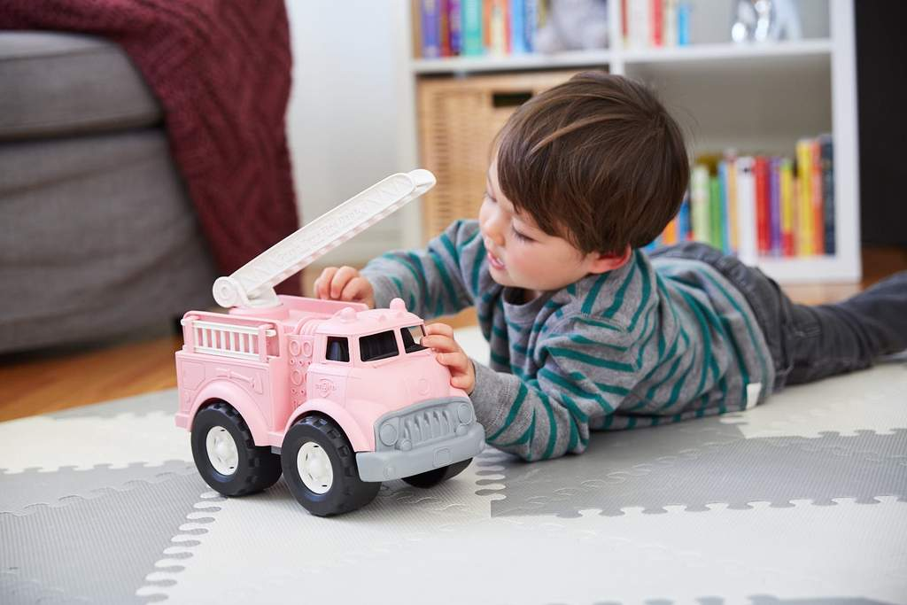 Roze Green Toys truck van gerecycled plastic