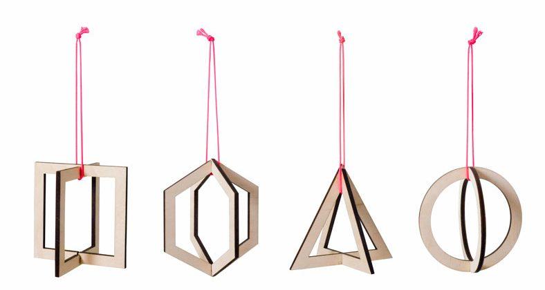 geometrische kerstboomhangers van CRE8