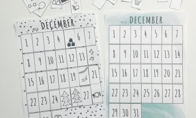 printable maandkalender december