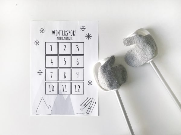 wintersport aftelkalender