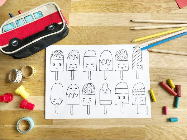 Gelijk even printen: de nieuwe ijsjes kleurplaat (gratis download)