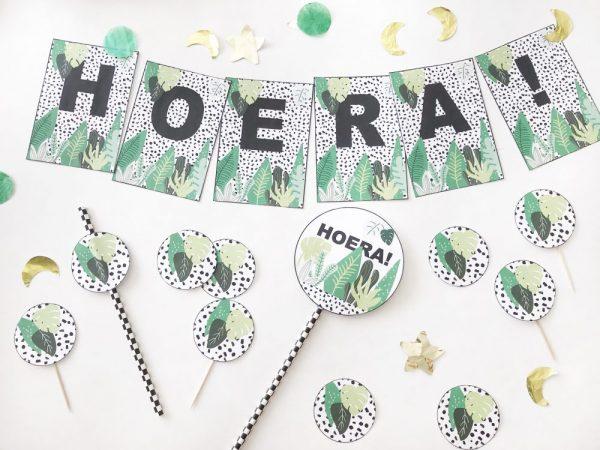 jungle kinderfeestje of safari feestje decoratie printables zelf maken