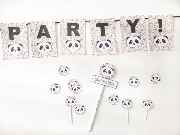 voorbeeld van panda versiering printables