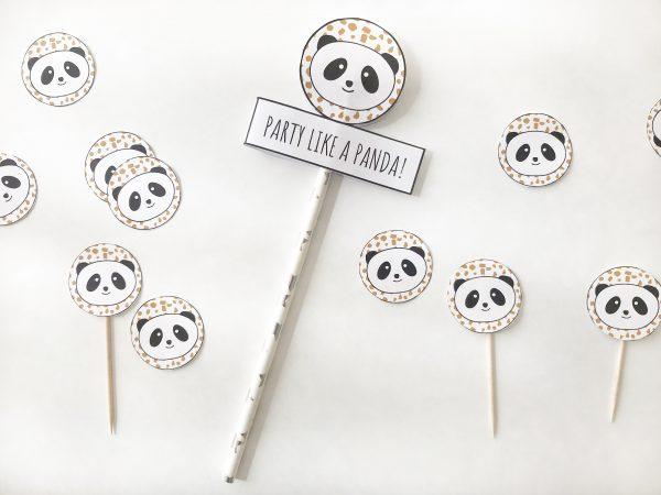 voorbeeld van panda versiering caketoppers
