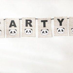 voorbeeld van panda kinderverjaardag versiering vlaggenlijn