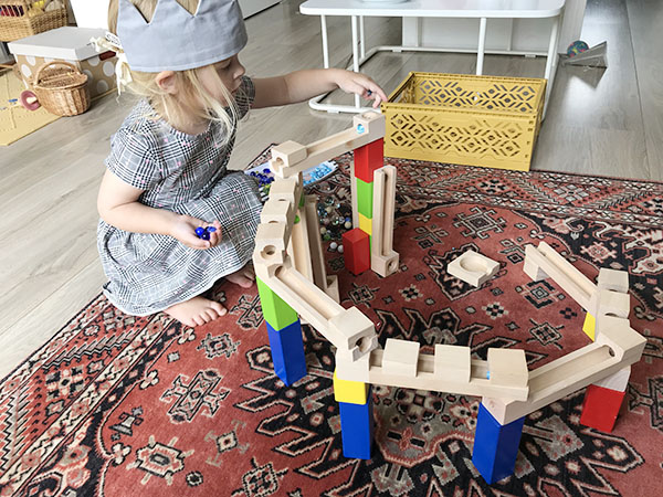 houten knikkerbaan eichhorn kopen voorbeeld bouwen