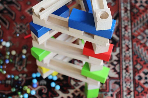 knikkerbaan voorbeeld bouwen