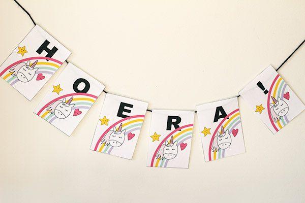 unicorn kinderfeestje decoratie voorbeeld product