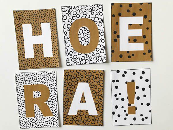 leopard luipaardprint tijgerprint vlaggenlijn printable