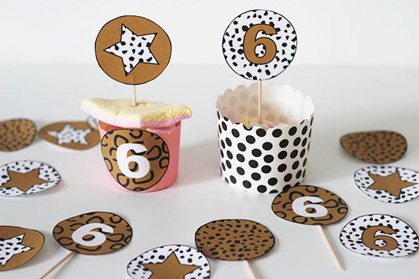 leopard tijgerprint versiering kinderfeestje printable