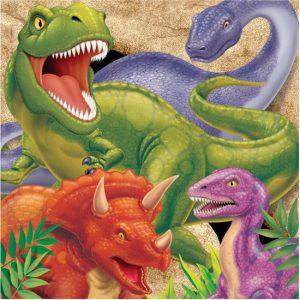dino servetten dinosaurus kinderfeestje