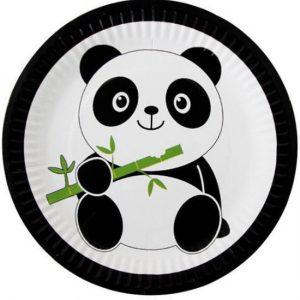 kartonnen panda bordjes