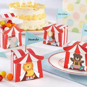 circus kinderfeestje uitdeeldoosjes