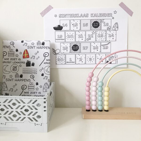 printable aftelkalender sinterklaas 2020