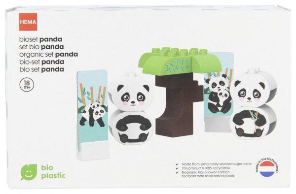 HEMA bio bouwset panda duurzaam speelgoed