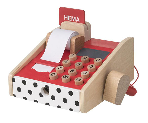 HEMA houten speelgoed kassa