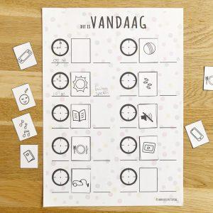 confetti printable dagplanner voor kinderen