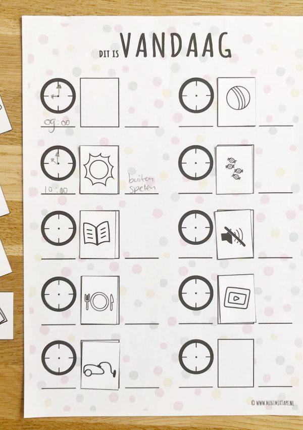 Duidelijkheid is een toverwoord: printable dagplanner met symbolen