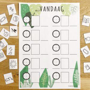 jungle printable dagplanner voor kinderen
