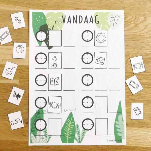 printable dagplanner voor kinderen