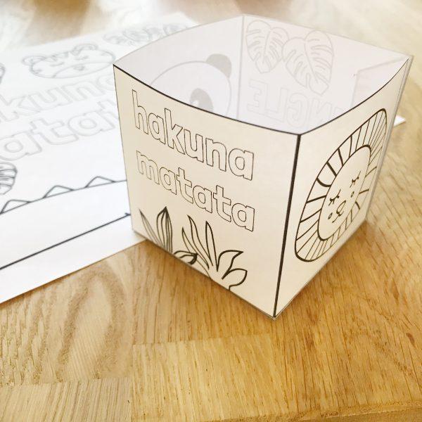 doosje maken van papier