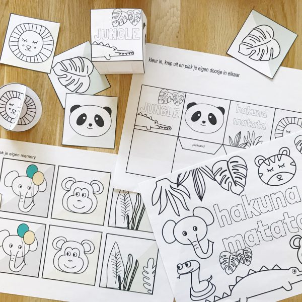 printable jungle pakket spelletjes printable doe boek