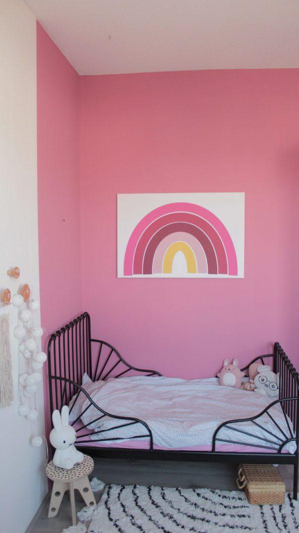regenboog poster op de kinderkamer