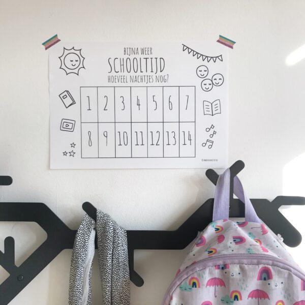 weer naar school printable aftelkalender back to school