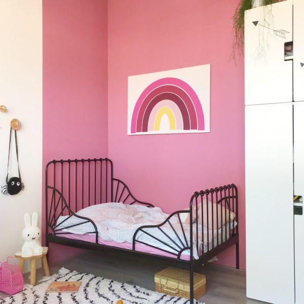 regenboog poster op kinderkamer maken