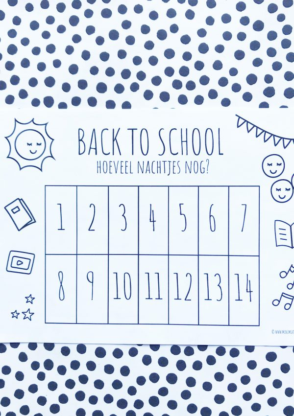 Printable back to school aftelkalender (gratis download)