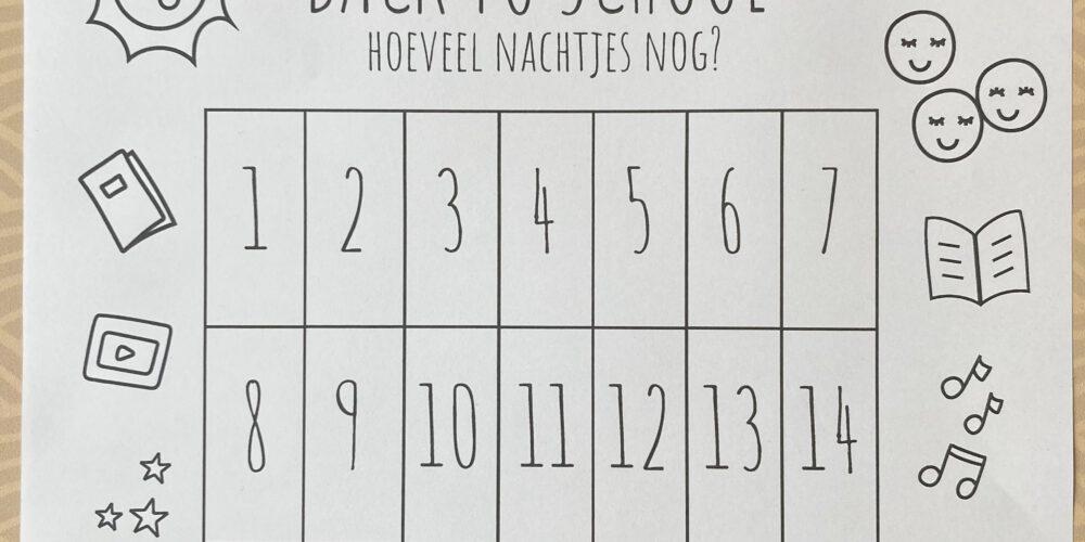 back to school gratis printable aftelkalender