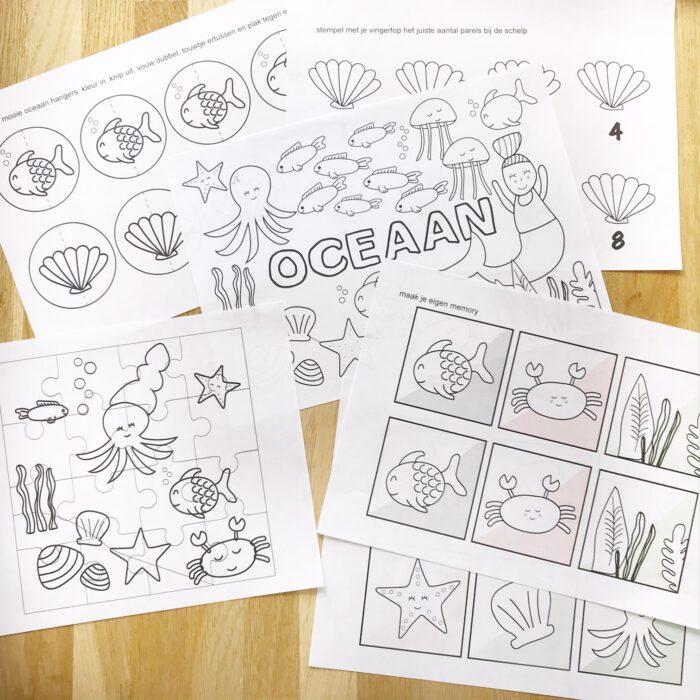 printable spelletjespakket oceaan
