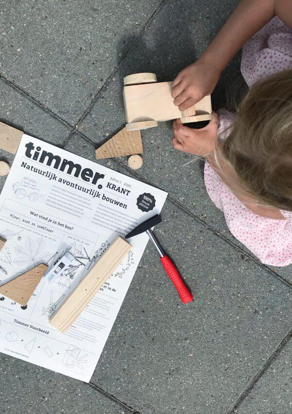 Met dit timmerhout voor kinderen kan je kind echt helemaal los
