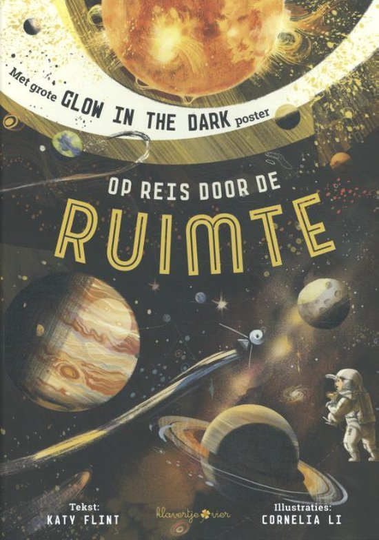 kinderboek over de ruimte met glow in the dark