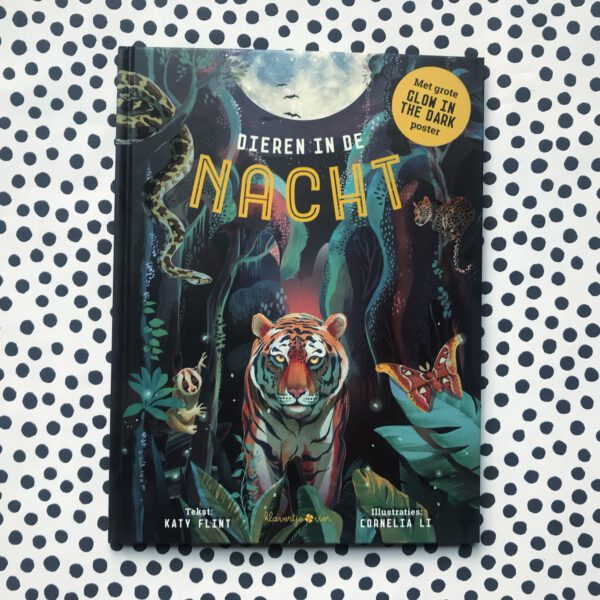 kinderboek glow in the dark dieren in de nacht