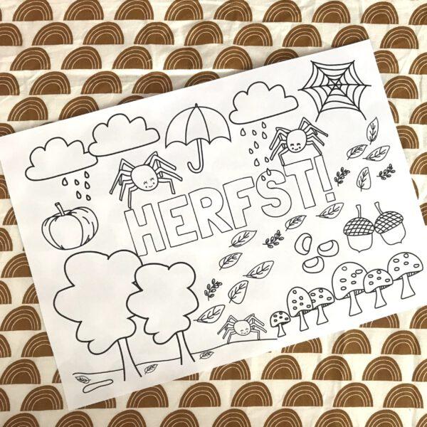 herfst kleurplaat gratis printable