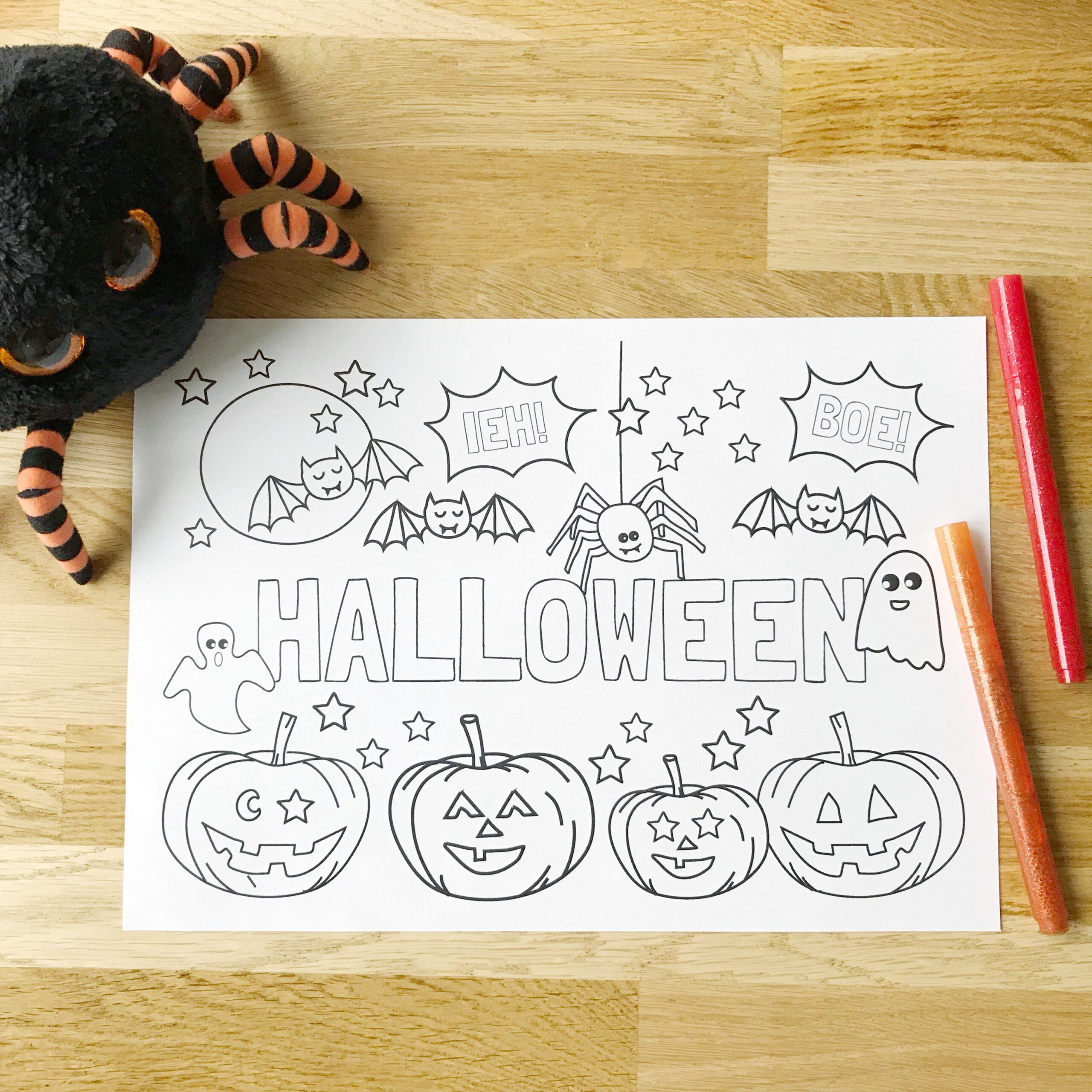 gratis halloween kleurplaat printable