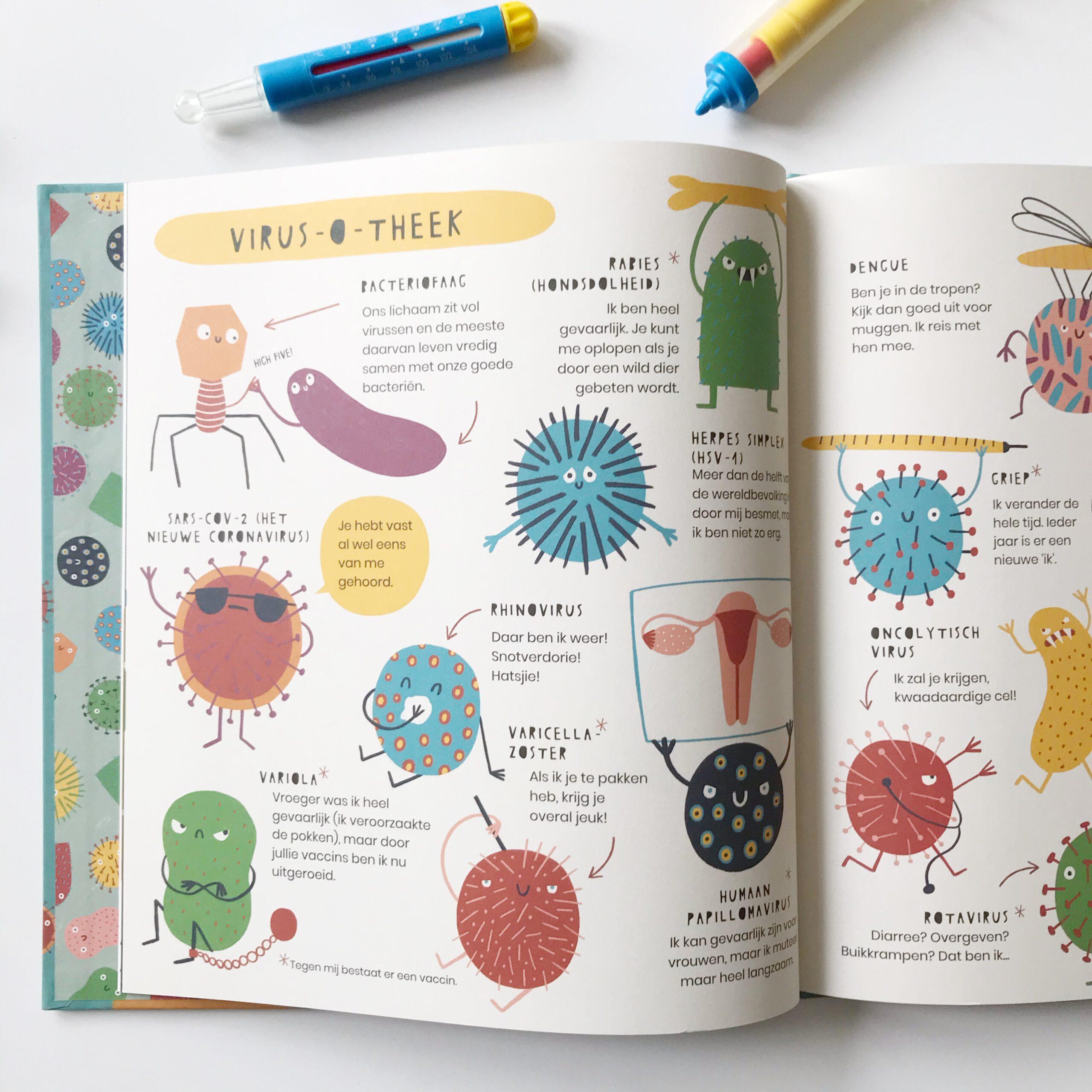 Kinderboek het geheime leven van virussen