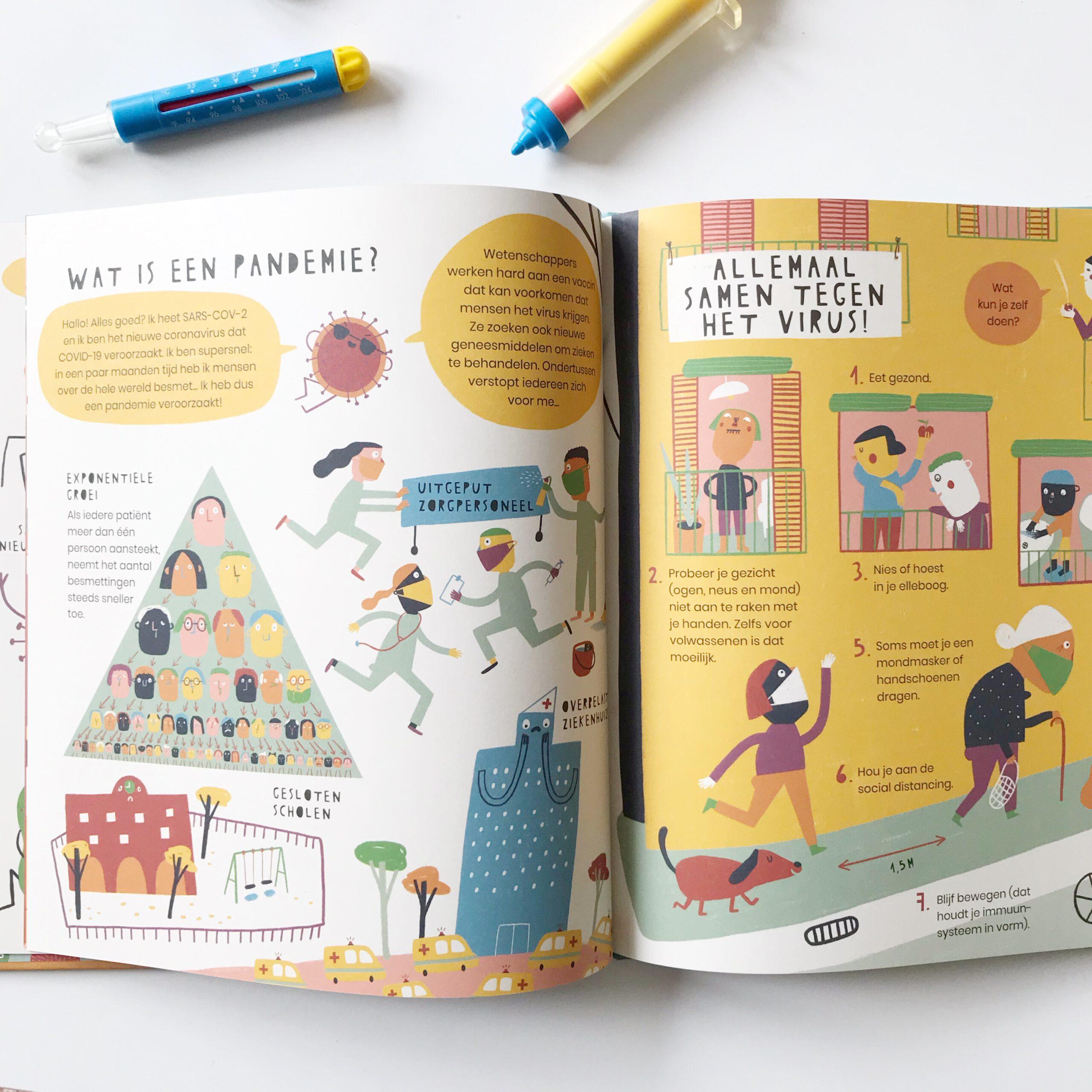 Wat is een pandemie uitleg kinderen kinderboek virussen